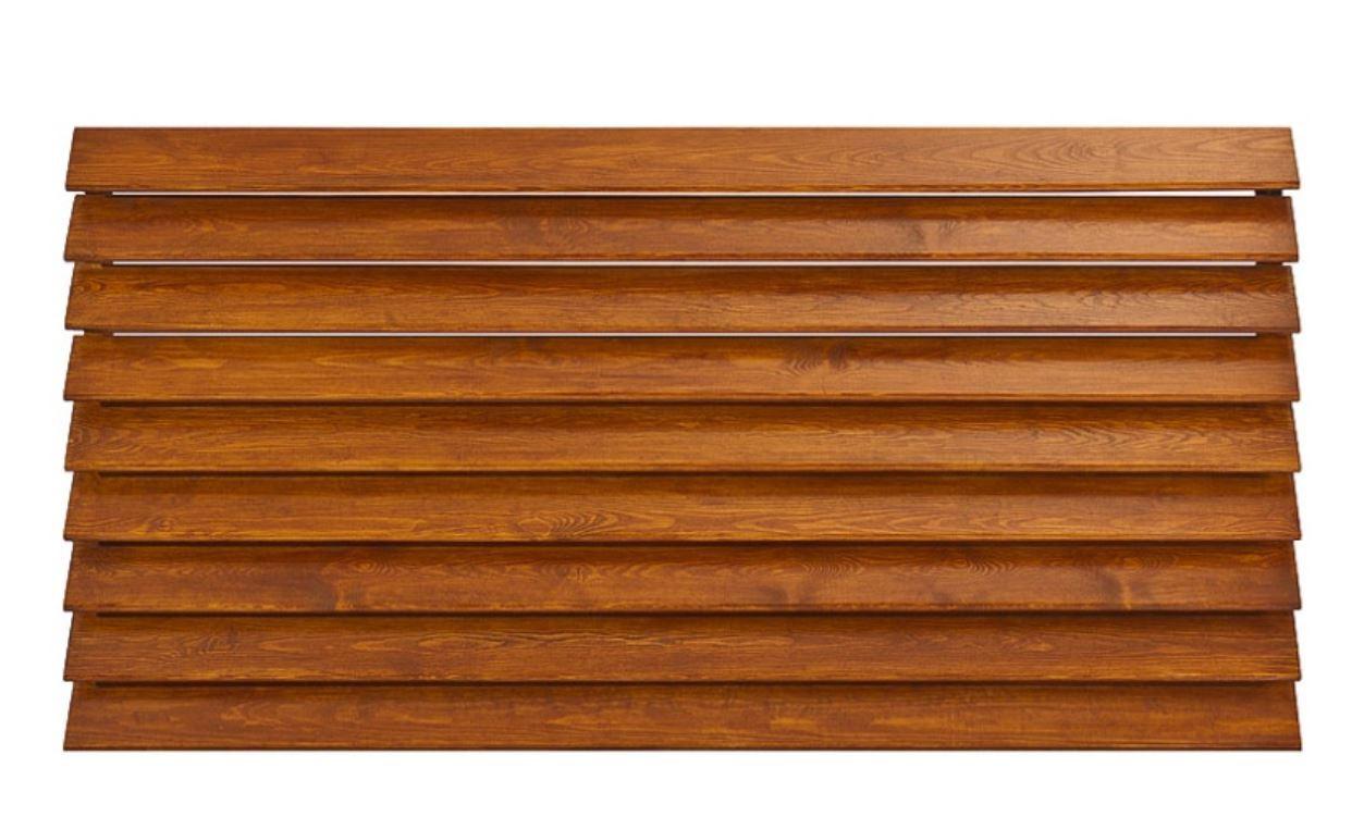 Ogrodzenie drewniane pełne żaluzjowe – przęsło M3 – betto.pl