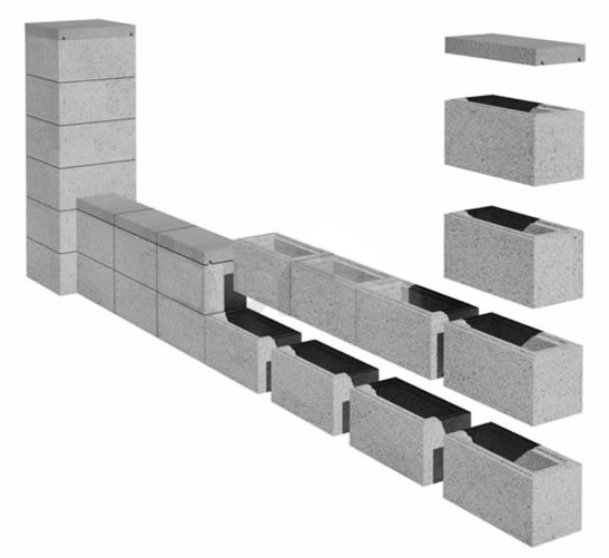 Schemat budowy ogrodzenia z bloczków betonowych - betto.pl